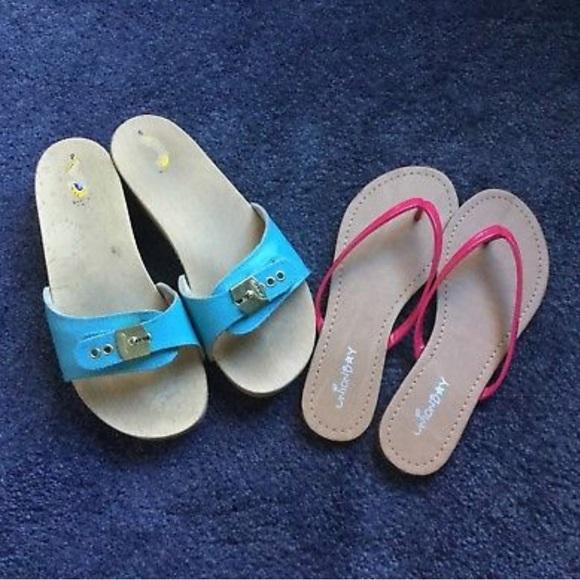 91e018b61c1d7d Dr. Scholl s Shoes - Vtg 70s Dr Scholls Sandals Slides + FREE UB sandal